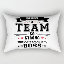 Team Work Spirit Job Team Player Awesome Gift Idea Rectangular Pillow