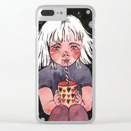 Drain, Inktober 2018 illustration Clear iPhone Case
