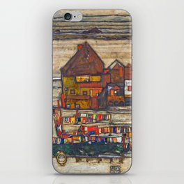 Egon Schiele - Houses with laundry (Suburb II) 1914 iPhone Skin