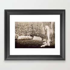 I Can't See You, but I Know You're There Framed Art Print