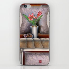 DW-007 Day Lilies With Nautilus iPhone Skin