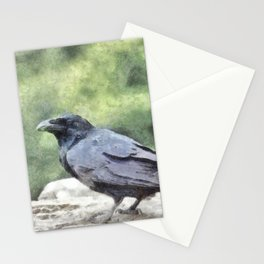Crows Everywhere Are Equally Black Stationery Cards