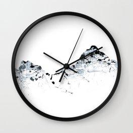 MOUNT MYTHEN MOUNTAINSPLASH grey Wall Clock