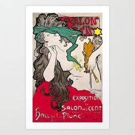 Vintage Alphonse Mucha Poster Girl Art Print