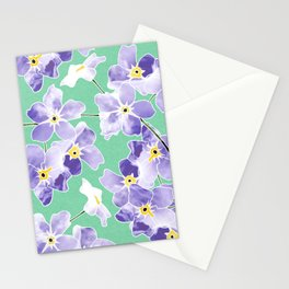 Forget Me Nots Print Stationery Cards