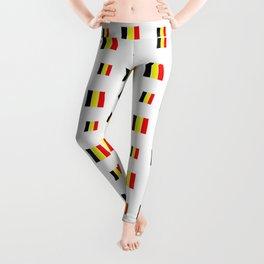 Flag of belgium 8 handmade Leggings