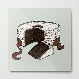 X is for Xmas Cake Metal Print