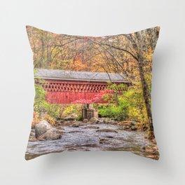 Nissitissit Covered Bridge Throw Pillow