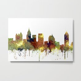 Atlanta, Georgia Skyline - SG - Safari Buff Metal Print