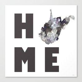 "West Virginia ""HOME"" Canvas Print"