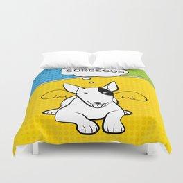 Awesome Bull Terrier Duvet Cover