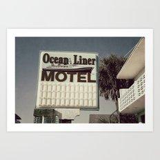 Ocean Liner Art Print