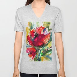 Serendipity 2 by Kathy Morton Stanion Unisex V-Neck