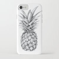 pineapple iPhone & iPod Cases featuring Pineapple by Sibling & Co.