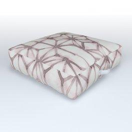 Simply Shibori Stars in Red Earth on Lunar Gray Outdoor Floor Cushion