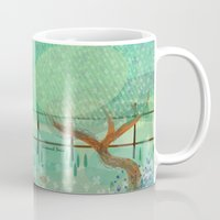 country Mugs featuring Country Lane by Alannah Brid