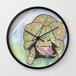 Window Lickers-Turtle Wall Clock