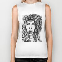 hippy Biker Tanks featuring Trippy Hippy by CROME