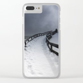 A Yellowstone Winter Clear iPhone Case
