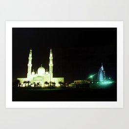 Jumeirah Mosque & the Burj Al Arab Art Print