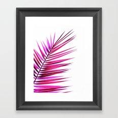 pink palm leaf II Framed Art Print