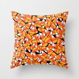 Candy Corn Pattern Throw Pillow