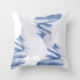 From Zen To Loss Of Equilibrium - Watercolor  Throw Pillow
