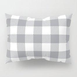 Buffalo Plaid - Grey & White Pillow Sham
