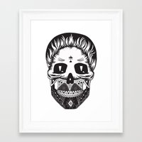 calavera Framed Art Prints featuring Calavera by Sofia Bolona