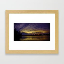 crab orchard sunset 2 Framed Art Print