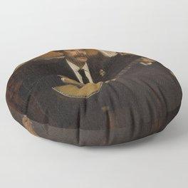 Lorenzo Pagans and Auguste de Gas by Edgar Degas Floor Pillow