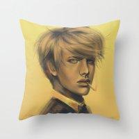 durarara Throw Pillows featuring Shizuo by emametlo