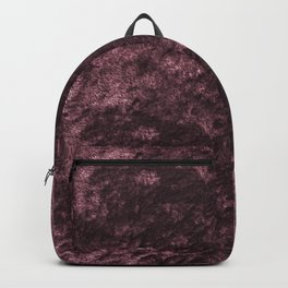 Deep rose violet velvet Backpack