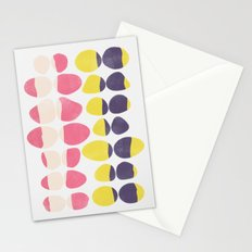 Painted Pebbles 3 Stationery Cards