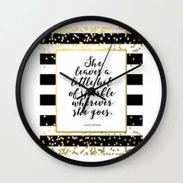 PRINTABLE Art,Kate Spade Quote,Kate Spade Decor,Girls Room Decor,Girls Bedroom Decor,Wall Art,Sparkl Wall Clock