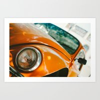 volkswagon Art Prints featuring Buggin' out by dnlamria