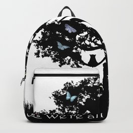We're All Mad Here III - Alice In Wonderland Silhouette Art Backpack