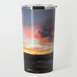 Cody Sunset Over Heart Mountain Travel Mug
