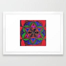 Forte Passion Mandala Framed Art Print