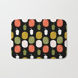 Acorns & Leaves Fall Design Bath Mat