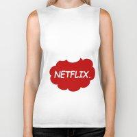 netflix Biker Tanks featuring Netflix Netflix by Goes4