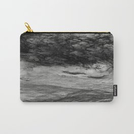 Black Tempest - Abtract Ocean Sea Pattern in Black And White Carry-All Pouch
