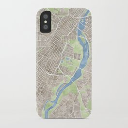 Richmond Virginia City Map iPhone Case