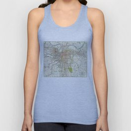 Vintage Map of Kansas City Missouri (1920) Unisex Tank Top