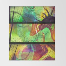 Painted Panes Abstract Throw Blanket