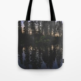 Manzanita Lake at Sunset Tote Bag