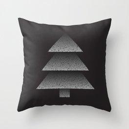 Grey Christmas Tree Throw Pillow
