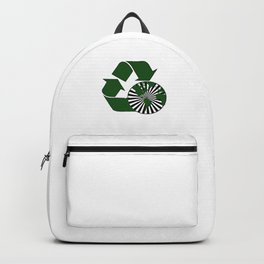 Reduce Reuse Recycle Recycling Earth Day Gift Environment Backpack