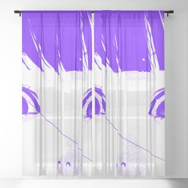 dont tell me this is no end Sheer Curtain