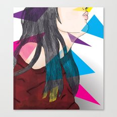 nube mente corazon Canvas Print